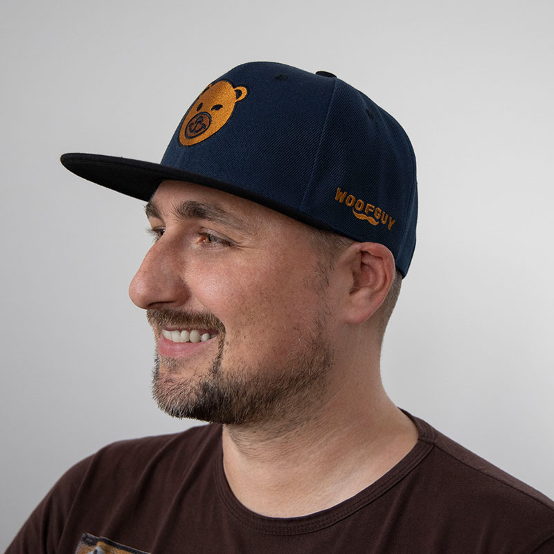 BearFace Snapback Cap (Navy/Black)